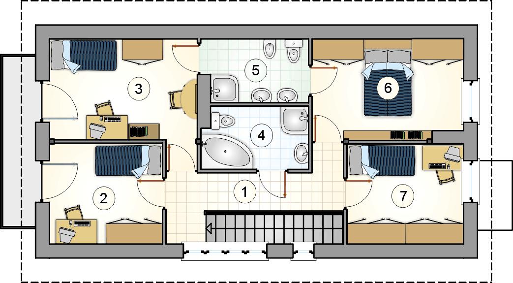 Rzut piętra - S-GL 107 Barnaba