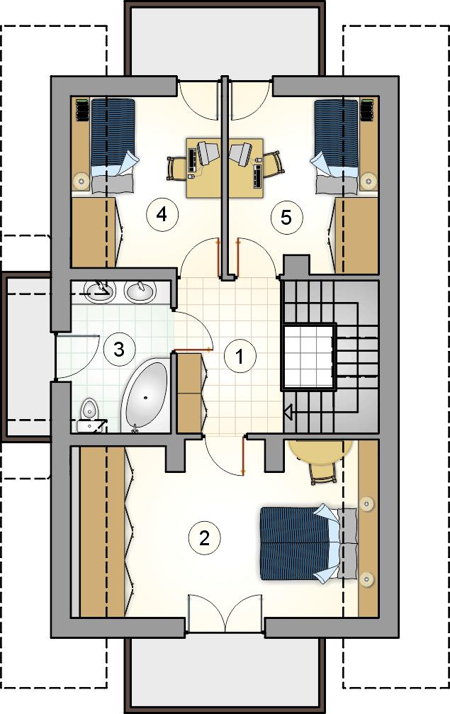Rzut poddasza - S-GLZ 165 Lutnia III