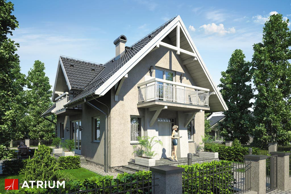 Projekt Lutnia III - elewacja domu