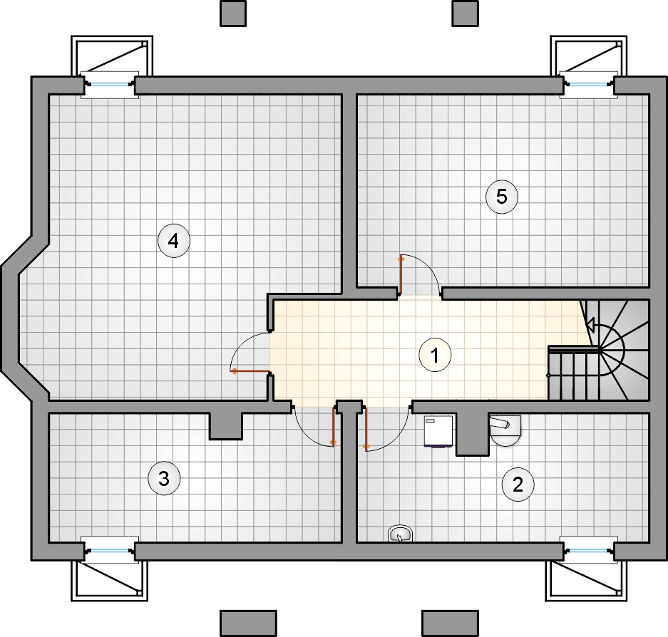 Rzut piwnicy - S-GL 434 Miłostek