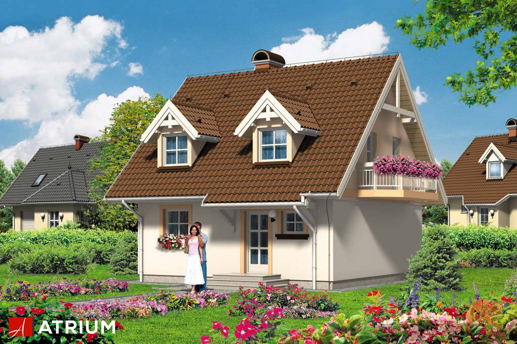 Projekt Malutek - elewacja domu