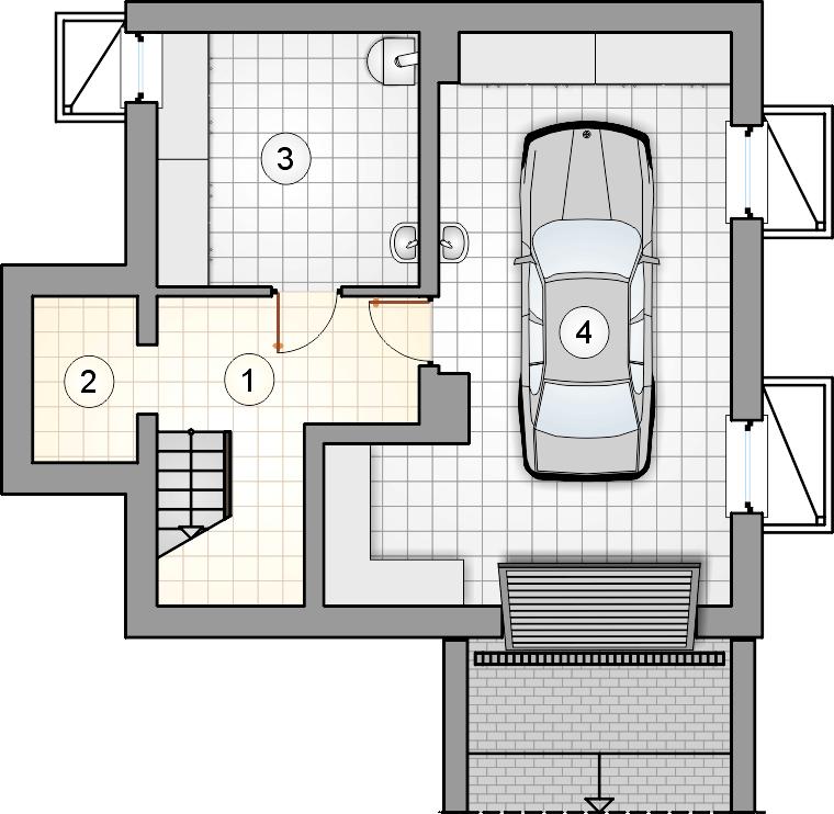 Rzut piwnicy - S-GL 574 Alf