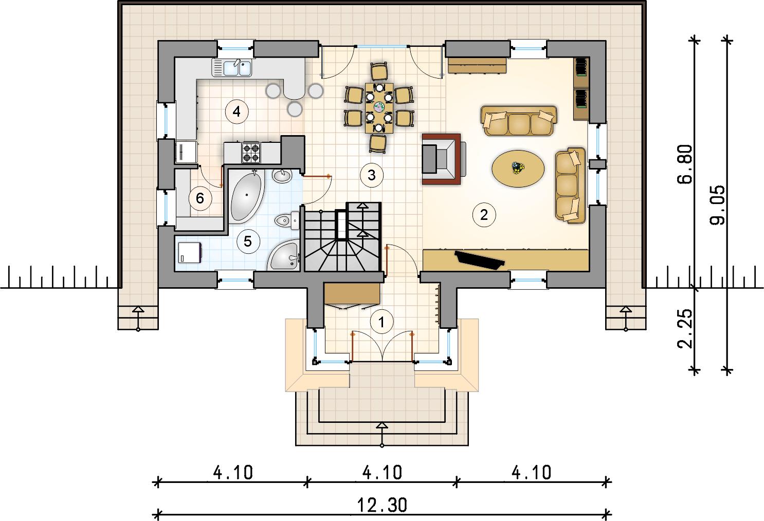 Rzut piętra - S-GL 673 Kaskada